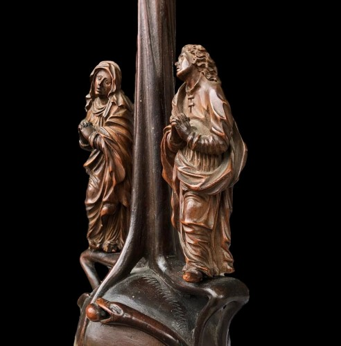 A German boxwood Crucifix. 17th century. -
