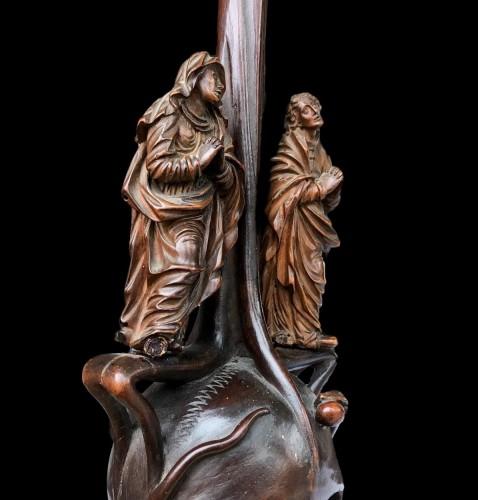 17th century - A German boxwood Crucifix. 17th century.