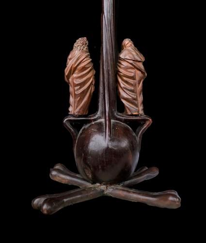 A German boxwood Crucifix. 17th century. - Louis XIV