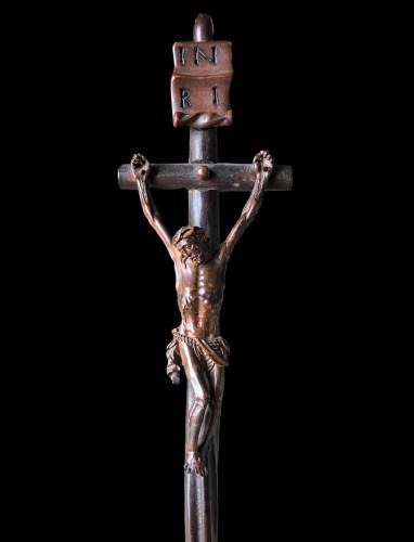 Louis XIV - A German boxwood Crucifix. 17th century.