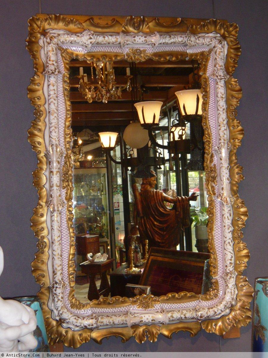 Miroirs trumeaux 17e si cle et avant antiquit s et for Miroir paris