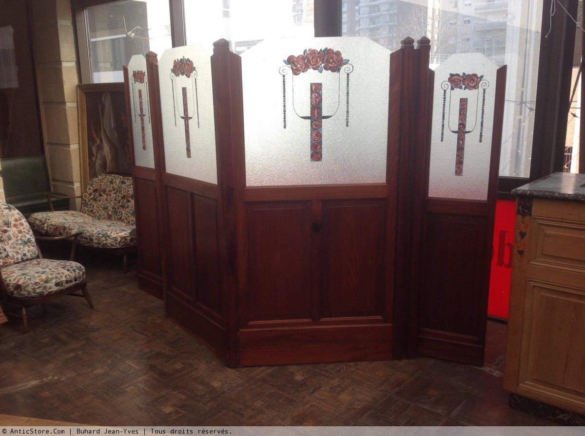 paravent art deco xxe si cle. Black Bedroom Furniture Sets. Home Design Ideas