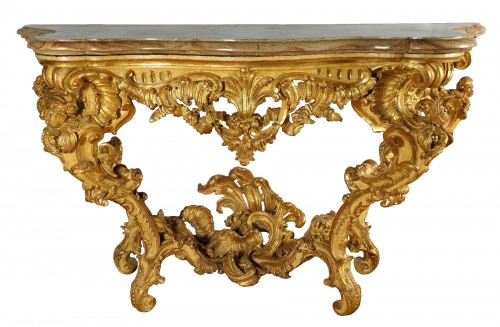 Important North Italian Console Table, mid-XVIII century