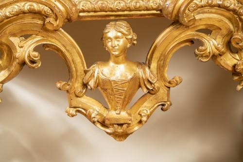 Important Italian console table, Genoa, second quarter !8th century  -