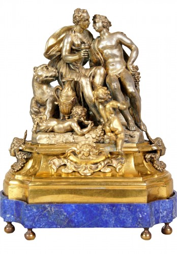 Gilted and silvered bronze center piece, early XVIII century