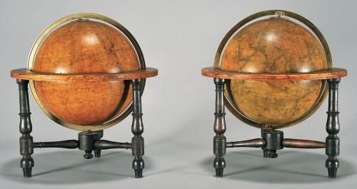 Pair of celestial and terrestrial globes, mid 19th century - Collectibles Style Louis-Philippe
