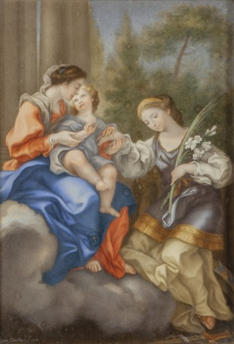 Paintings & Drawings  - Paire of tempera depicting 'Life of Virgin', early XIX, D. P. Cambiaso