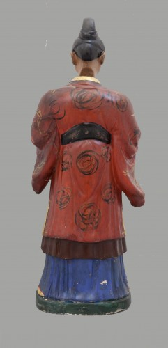Large italian polychrome plaster nodding head figure, half XIX century - Curiosities Style Restauration - Charles X