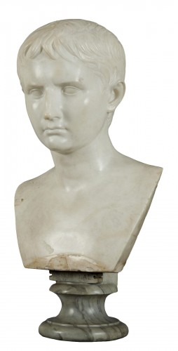 Italian bust of the emperor Caligola, early 19th century
