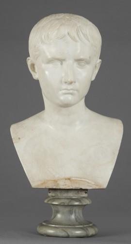 Italian bust of the emperor Caligola, early 19th century - Sculpture Style Empire