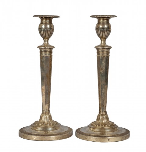 Paire of silver candelsticks, Parma, late XVIII century