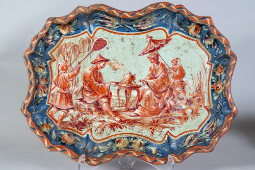 Decorative Objects  - Paire of trays in papier maché, Piemonte, Italy, half 18th century
