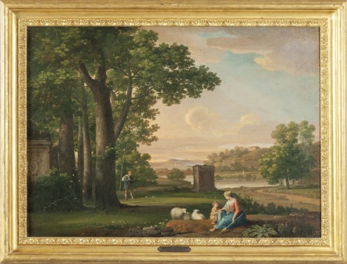 Paintings & Drawings  - Paire of neoclassical landscapes, G. Bacigalupo ( 1744 - 1821 )