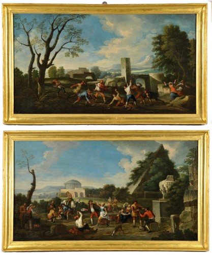 Popular scenes - Italy  Late 17th - early 18th century