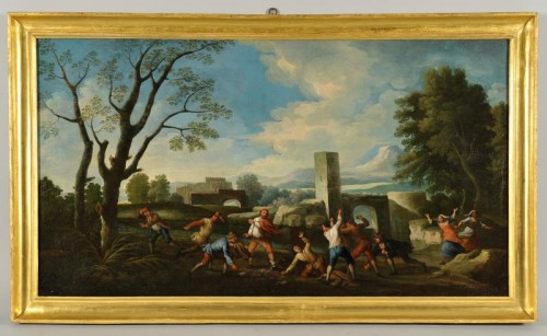 Popular scenes - Italy  Late 17th - early 18th century - Paintings & Drawings Style French Regence
