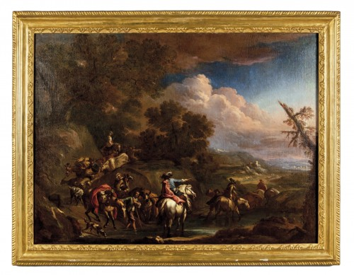 Crossing the ford - Christian Reder (1656 -1729))