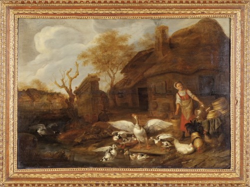 The duck bath by J. Siberchts ( 1627 - 1702 )