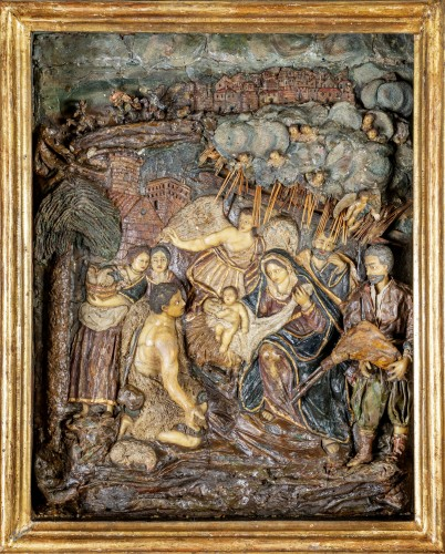 Wax Nativity scene, Neapolitan author, XVIII century