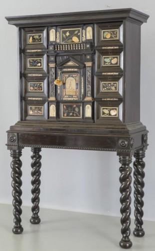 Ebonized wood cabinet with precious marble tiles, Florence, XVII century -