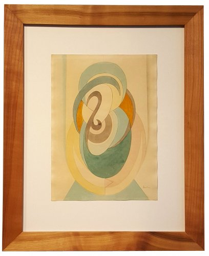 Volutes Composition - Auguste Herbin (1882-1960)