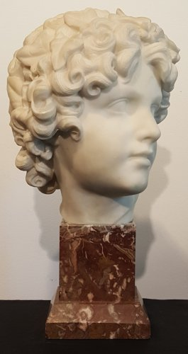 Carrara marble head by Pio Fedi 1871
