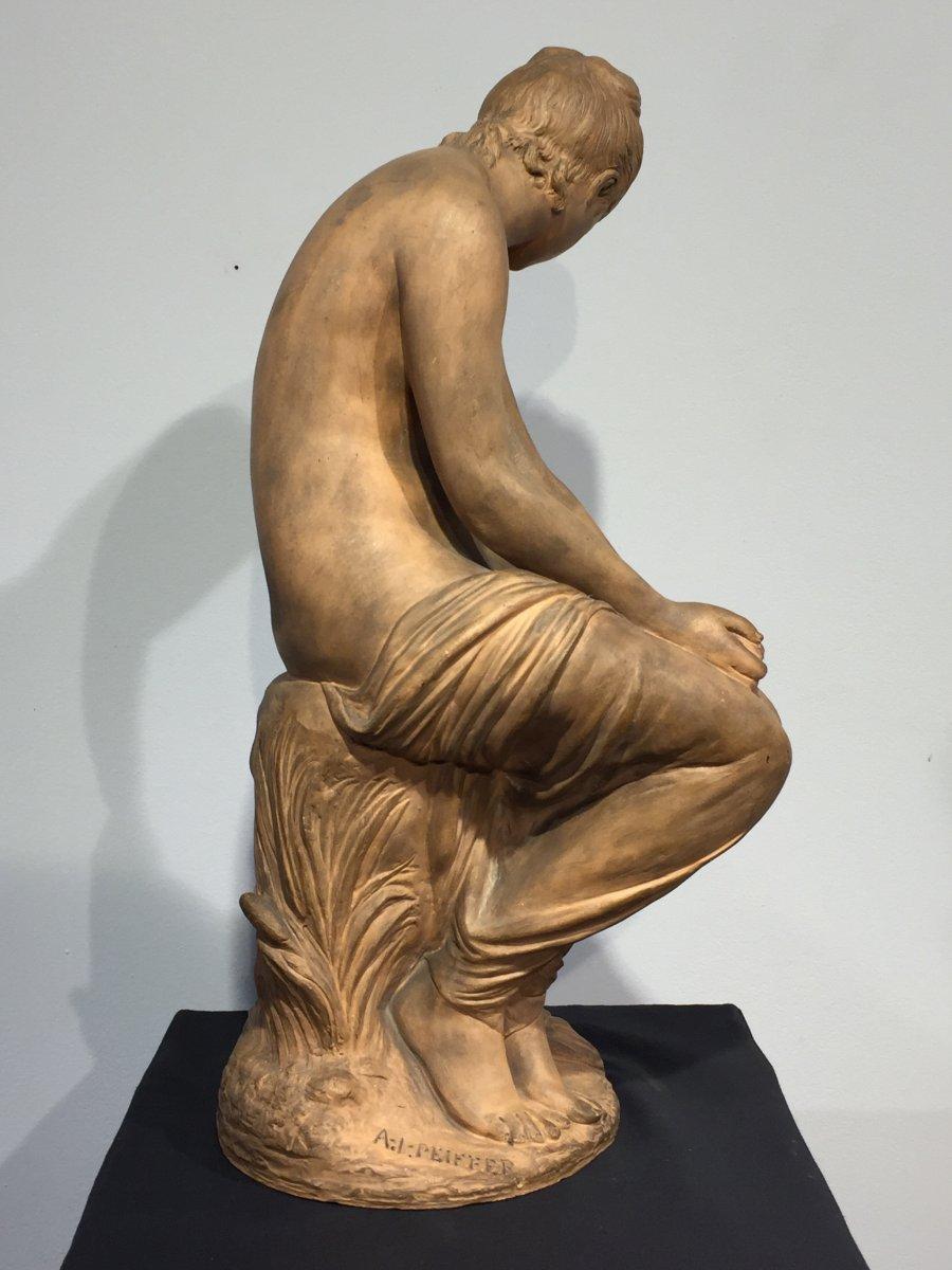 Häufig Femme assise - Auguste Joseph Peiffer (1832-1886) - XIXe siècle  GN85