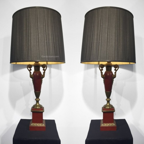 Pair of lamps, France Restauration period
