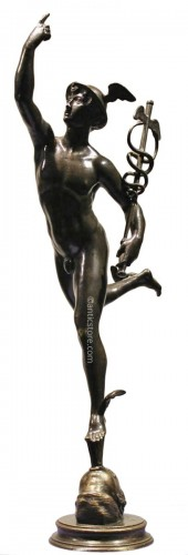 Mercury - bronze after John of Bologna