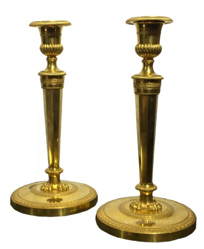 Pair of candlesticks, France late 18th century