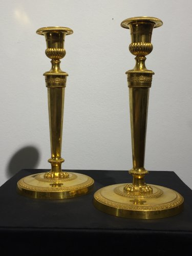 Pair of candlesticks, France late 18th century - Lighting Style Directoire