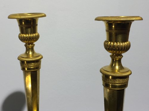 Pair of candlesticks, France late 18th century -