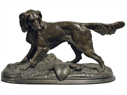 Jules Moigniez (1835 - 1894) - Hunting dog