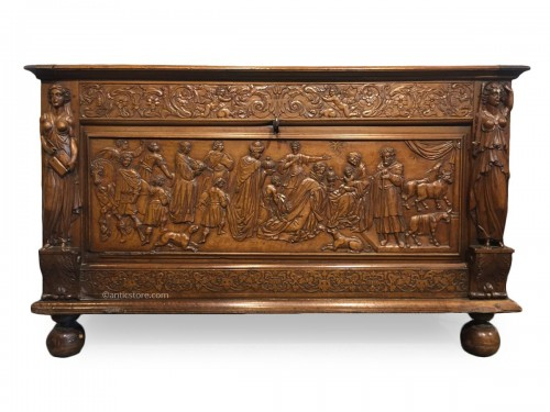 A late 17th century walnut chest