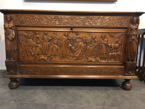 Furniture  - A late 17th century walnut chest