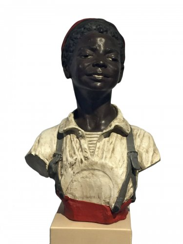 Terracotta late 19th century - Young boy