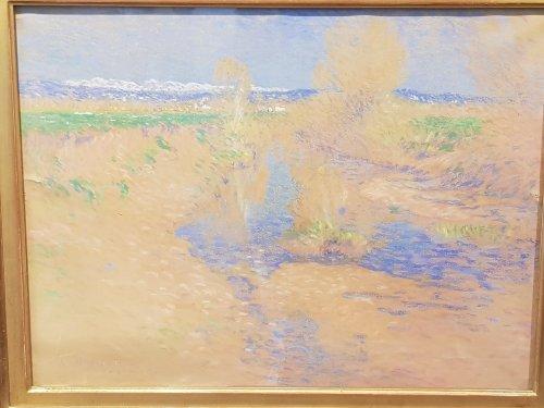Paintings & Drawings  -  Louis Rheiner (1863 - 1924) - Landscape of the Maritime Alps