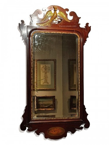 English mahogany mirror circa 1800