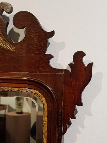 English mahogany mirror circa 1800 -