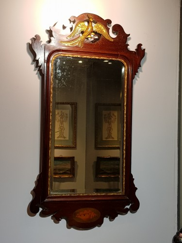 18th century - English mahogany mirror circa 1800