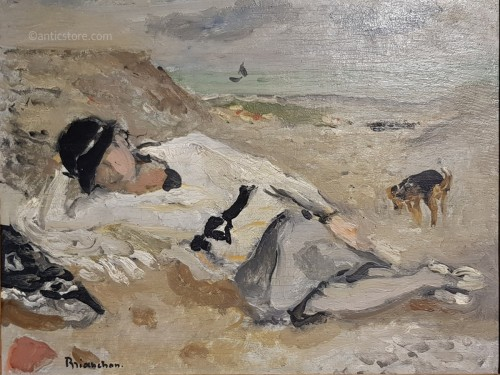 Woman on a beach - Maurice Brianchon (1899 - 1979)