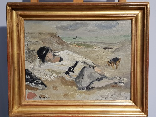 Woman on a beach - Maurice Brianchon (1899 - 1979) - Paintings & Drawings Style