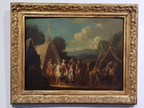 Paintings & Drawings  - Camp Scenes - Flemish School of the 18th Century