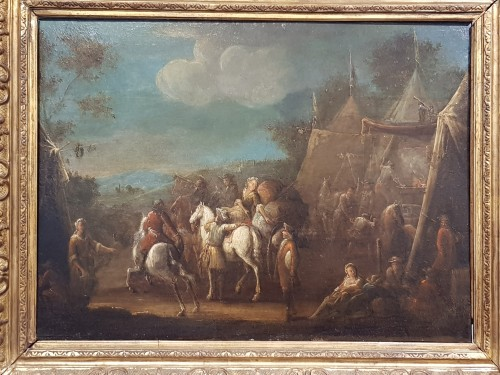 Camp Scenes - Flemish School of the 18th Century -