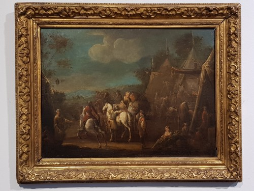18th century - Camp Scenes - Flemish School of the 18th Century