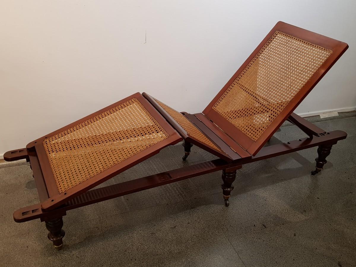 Chaise longue anglaise circa 1850 - XIXe siècle - N.71553 on chaise furniture, chaise sofa sleeper, chaise recliner chair,