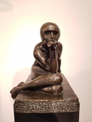 Sculpture  - The enigma - Maurice Guiraud-Rivière (1881-1947)