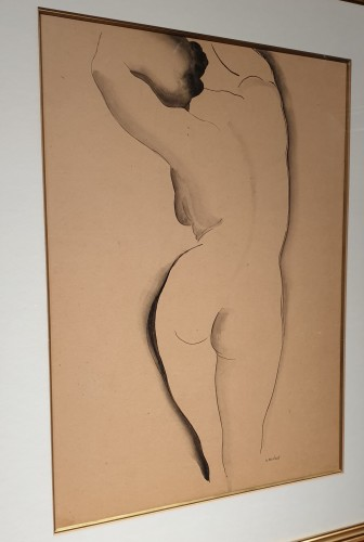 Gustave BUCHET (1888 - 1963) - Back nude - Paintings & Drawings Style