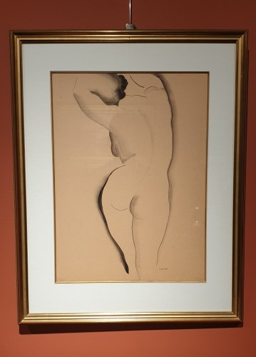 Paintings & Drawings  - Gustave BUCHET (1888 - 1963) - Back nude