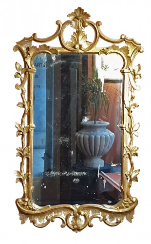 English mirror in gilded wood