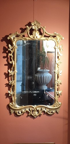 English mirror in gilded wood - Mirrors, Trumeau Style Louis XV
